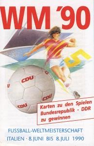 Karten zu den Spielen: Bundesrepublik - Kamerun